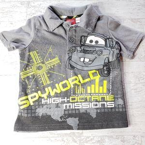 💥4 for $15💥Pixar Cars Mater Spyworld Polo Shirt